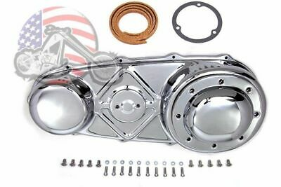 Chrome Outer Primary Cover Hardware Gasket Derby Clutch Kit Harley Panhead 74""