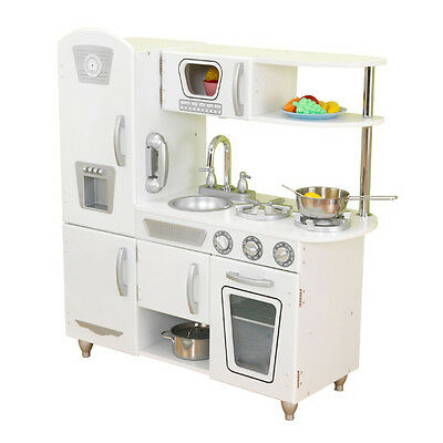 NEW KidKraft Vintage Kitchen - White Gourmet Wood Play Kitchen