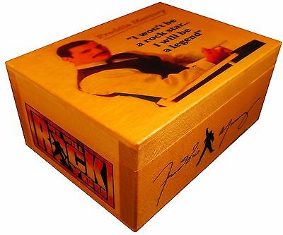 Freddie Mercury QUEEN figure statue, BOX with SIGNED AUTOGRAPHED, Poster, Quote