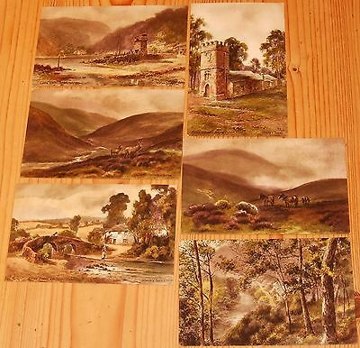 Old postcards, Lorna Doone country, unused, 6 postcards