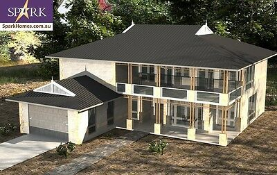 Two Storey Plan 280 LH, 6 Bedrooms - Size 367m2, engineered to codes