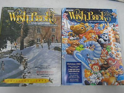 2000 & 2002 Sears Wish Book Christmas Store Catalogs Full Colour Reference