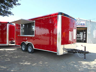 16' 16ft 8.5x16 Concession Enclosed Sno Cone Cargo Utility Food Vending Trailer