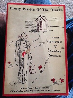 Outhouse Pretty Privies of the Ozarks Illustrated Booklet Democrat Publishing