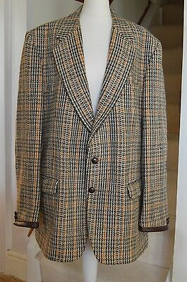 Vintage Hodges Lerry Wool Talybont Men's Tweed Jacket Sporting Country Hacking