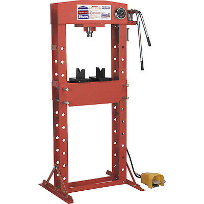 Sealey 30t Air Hydraulic Press Floor Type with Foot Pedal
