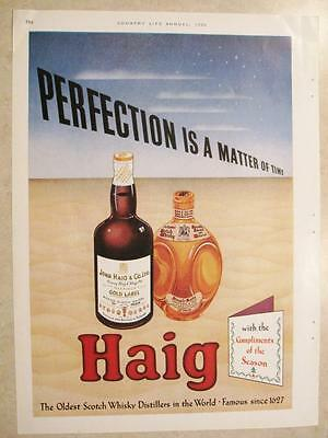 HAIG Scotch Whiskey magazine ad taken from Country Life Annual Christmas 1950