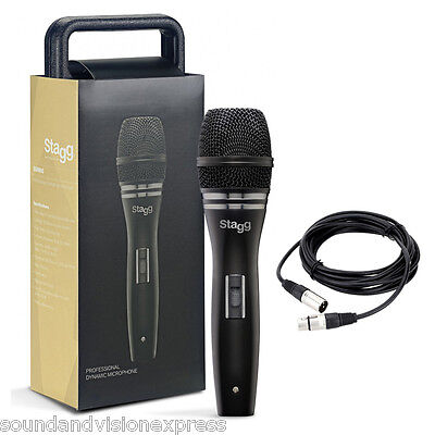 Stagg SDM90 Pro Vocal + Instrument Microphone + Mic Case + Lead + 2Yr Warranty