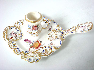 Coalport - Worcester Lovely Cake Server Shaped Chamberstick - Rococo Style C1820