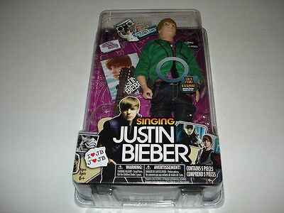 JUSTIN BIEBER singing doll 2010 Bravado sealed One Less Lonely Girl with guitar