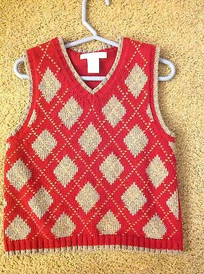 Janie and Jack Boys Vest 3T.  Festive Traditions Argyle Sweater - Beautiful