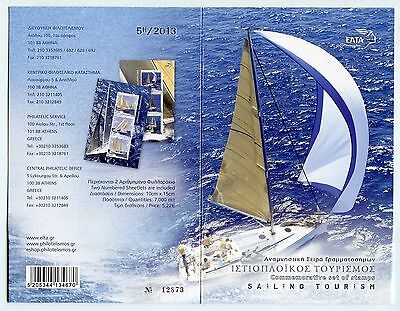 GREECE 2013 5TH/2013 - Sailing Tourism 2 Numbered Sheetlets Limited Edition