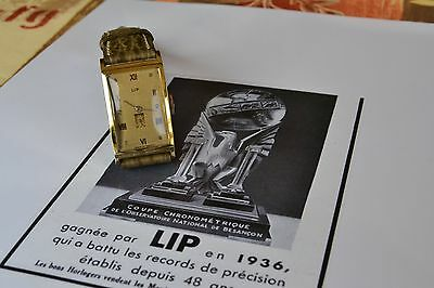 Superbe Lip T 18 Annee 1948 Plaquee Or Comme Neuve
