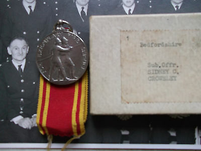 Fire Brigade Long Service Medal - Fireman Sub Officer Sidney Crowsley With Photo