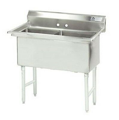 "Double Fabricated Bowl 2 Compartment Scullery Sink Size: 43"" H x 41"" W x 24"" D"