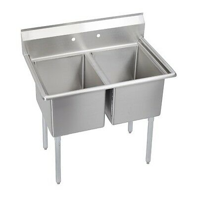 Deluxe 2-Compartment Sink, no drainboards