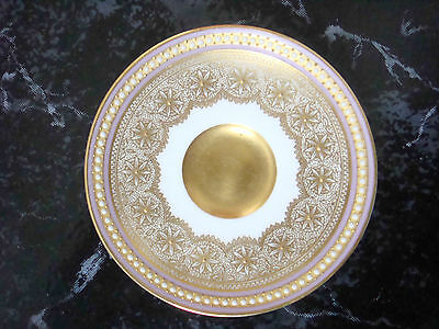Lovely Royal Worcester Pear Beaded Jewelled Small Pin Dish - Richly Gilded