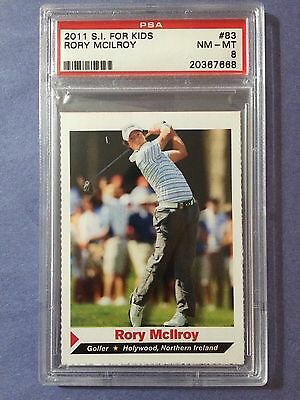 2011 SI For Kids Rory Mcilroy Rookie #83 PSA 8 Centered!