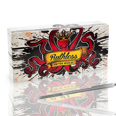 Box Of Ruthless Disposable Sterile Tattoo Machine Needles Magnum Shader MS