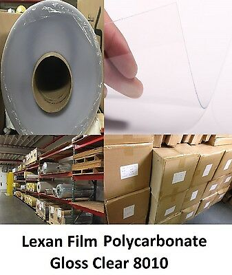 "30mil Gloss/Gloss Clear Lexan 8010 Polycarbonate Film Roll .030"" x 48"" x 25ft"