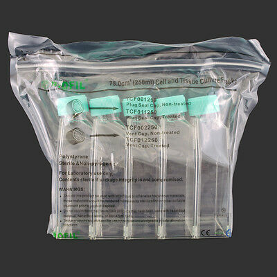 250 mL Non-treated, Vented, Cell Culture Flask, Pack of 5