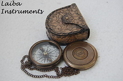 Antique Vintage Compass Style Brass Compass Pocket Compass Campaigning Hiking