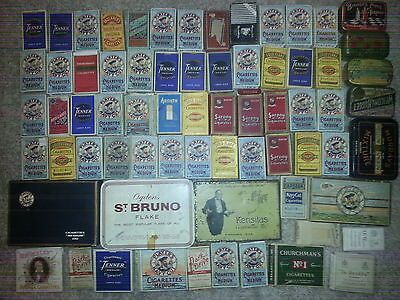 69 x MOSTLY 1930's OLD CIGARETTE PACKETS AND TINS JOB LOT INC RARE
