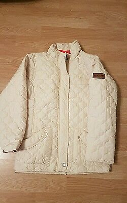 Girls Cream Regatta Coat Age 9/10 Worn Once