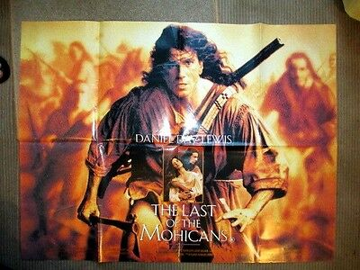 LAST OF THE MOHICANS 1992 40X30 ins UK QUAD MOVIE FILM POSTER DANIEL DAY LEWISF