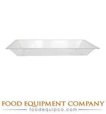 Buffet Enhancements Medium Acrylic Ice Display Tray with Drain Only, 36 x 24 inc