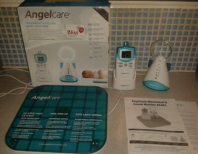 Angelcare AC401 Movement and Sound Baby Monitor with Box and Instructions