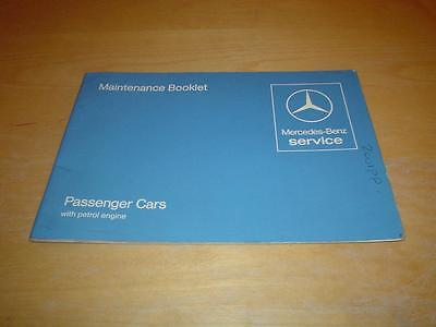 MERCEDES SERVICE BOOK W107 280 380 500 SL 280SL 380SL Owners Handbook Manual