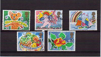 Gb 1989 Greetings Booklet Stamps Set Very Fine Used