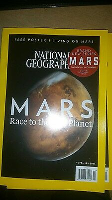 National Geographic Magazine--November 2016--Mars--Race to the Red Planet