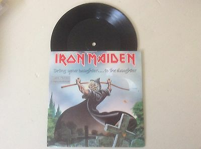 """Iron Maiden Autographed Disc Etched 7"""""""
