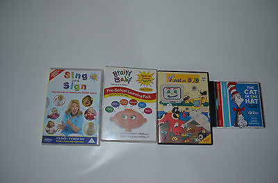 Children's learning DVDs and Cat in the Hat CD