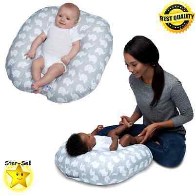 Boppy Newborn Lounger Baby Infant Pillow Babys Travel Cushion Carrying Handle
