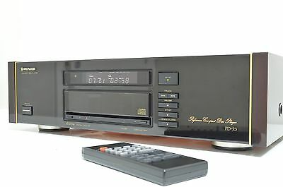 Stunning Pioneer Pd-73 Reference Compact Cd Player With Original Remote Circa 90