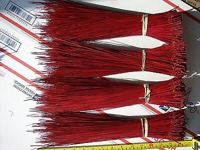 1 Lb+ UNSURPASSED FL DYED RED PINE NEEDLES  for Gourds Baskets Native Craft