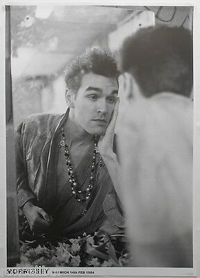 THE SMITHS Morrissey Norwich 14th February 1984 33 X 23 Inch B&W POSTER