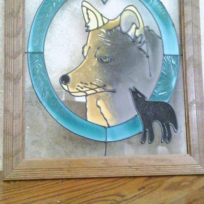 Wolf stained glass Window