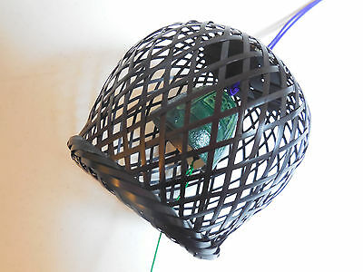 Japanese Furin Wind Chime Cast Iron, Bamboo Basket Cover. Beautiful, clear sound