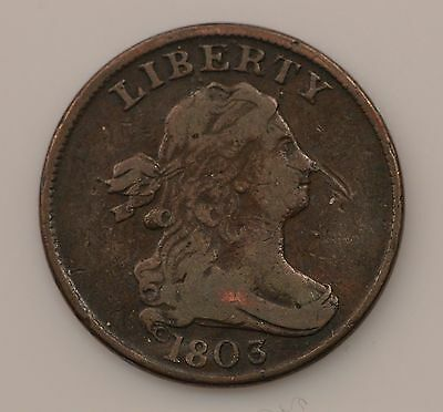 1803 Draped Bust *Widely Spaced 3* Half Cent *Q68
