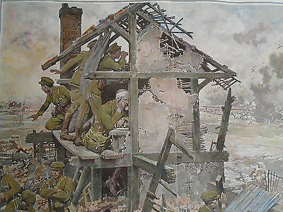 Artillery Observation Post Ww1 Hand Coloured Military Print