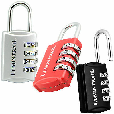 Lumintrail Set-Your-Own 4 Digit Combination Padlock With 1/2 Inch Shackle Lock