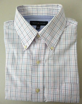 Tommy Hilfiger Men's Business/Casual Long Sleeve Shirt Size Medium 32-33 Check