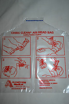 NEW Lot Of 500 Armstrong CHRIS CLEAN AIR HEAD BAG CPR AA-6070
