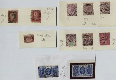 GB Miscellaneous QV, GV MH & Used - 1d Red Imperf, Jubilee SG CV £120