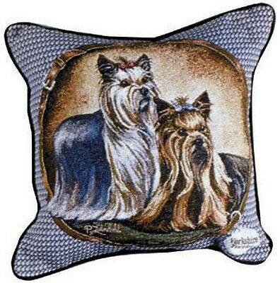 YORKIE Yorkshire Terrier Tapestry Throw Pillow Dogs New 17x17 Made in USA