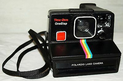 Polaroid Black Rainbow One Step SX-70 Instant Camera Fully Tested Working